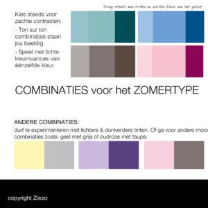 Combinaties Kleurenanalyse Zomer Type