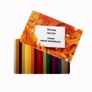 Kleurkaart Warme Herfst